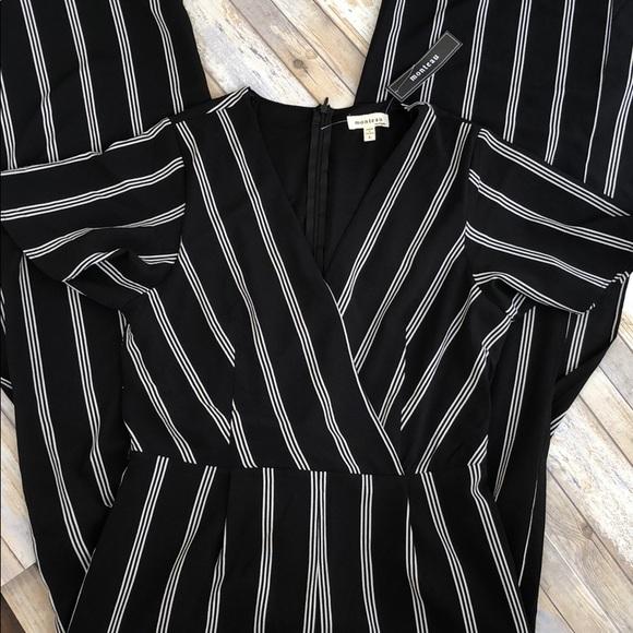 acb25e400af6 Monteau Black   White Striped Jumpsuit